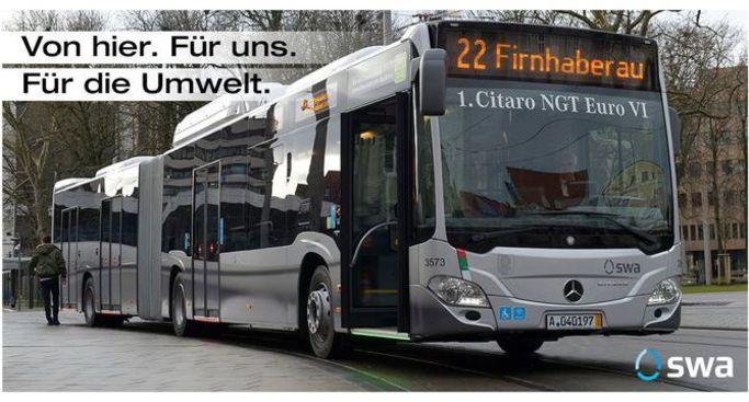 Autogramme in neuem swa-Bus