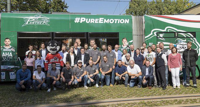 Gemeinsam durch Augsburg - Tram der swa & Panther
